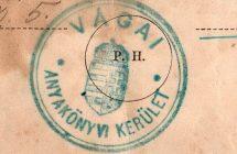 A Vágai Anyakönyvi Kerület pecsétje