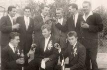 Vőlegény a vőfélyek és a többiek 1960-as években