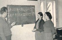 A Népes énekkari tagjainak szolfézsórája
